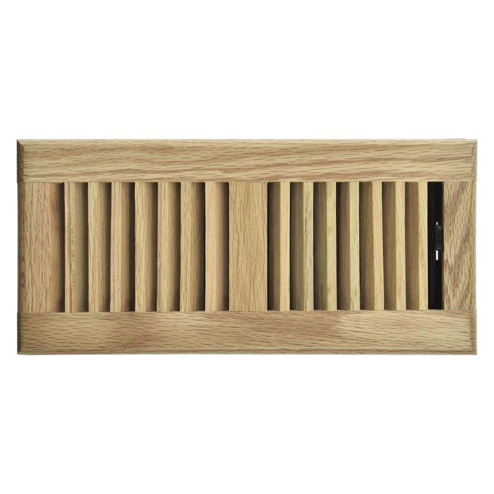 Hampton Bay 4 inch x 10 inch Floor Register - Light Oak