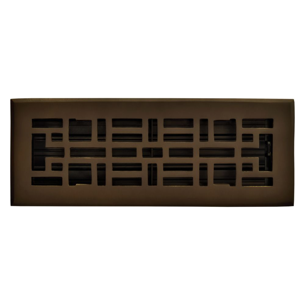 3 Inch x 10 inch Oil Rubbed Bronze Arts & Craft Floor Register RG3212 Canada Discount