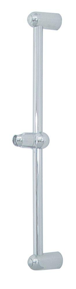 Brasscraft Adjustable Shower Bar, Chrome Finish