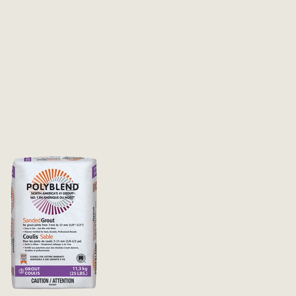 #381 Bright White - Polyblend Sanded Grout - 25lb