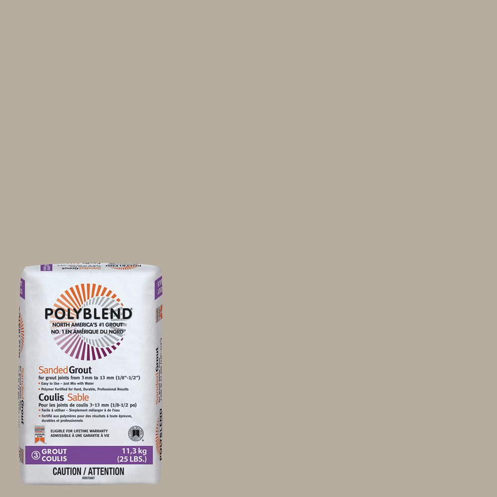 #386 Oyster Gray - Polyblend Sanded Grout - 25lb