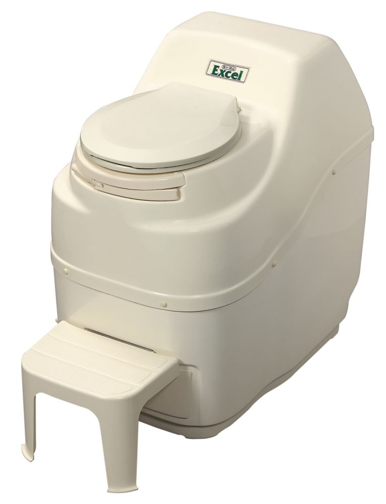 Excel Electric Composting Toilet in Bone