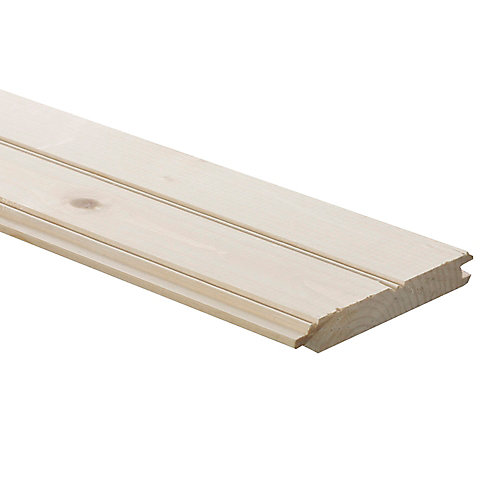 1-inch x 6-inch x 12 ft. Pine Panelling