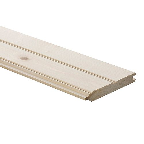 THD Generic 1-inch x 6-inch x 12 ft. Pine Panelling