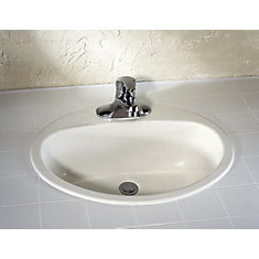 Ovation 4-inch Bathroom Sink Basin in Enamelled Steel