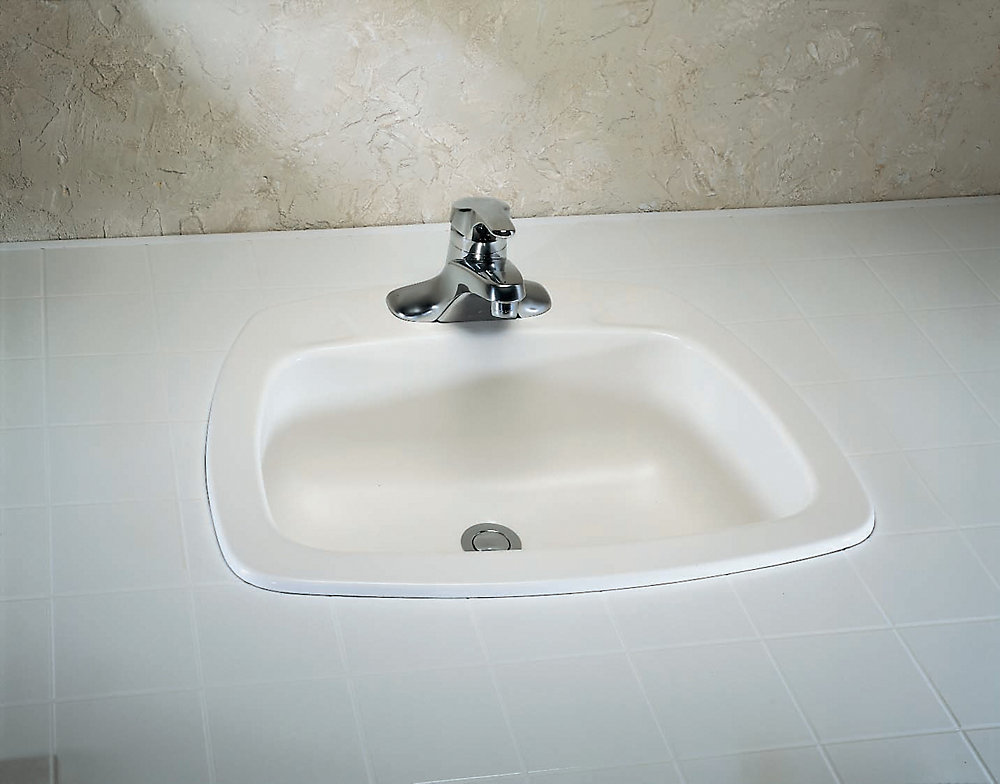 American Standard Yorkdale Self Rimming Sink Enamelled Steel The Home Depot Canada