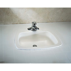 Bathroom drop in sinks ceramic copper more the home - Glacier bay drop in bathroom sink ...