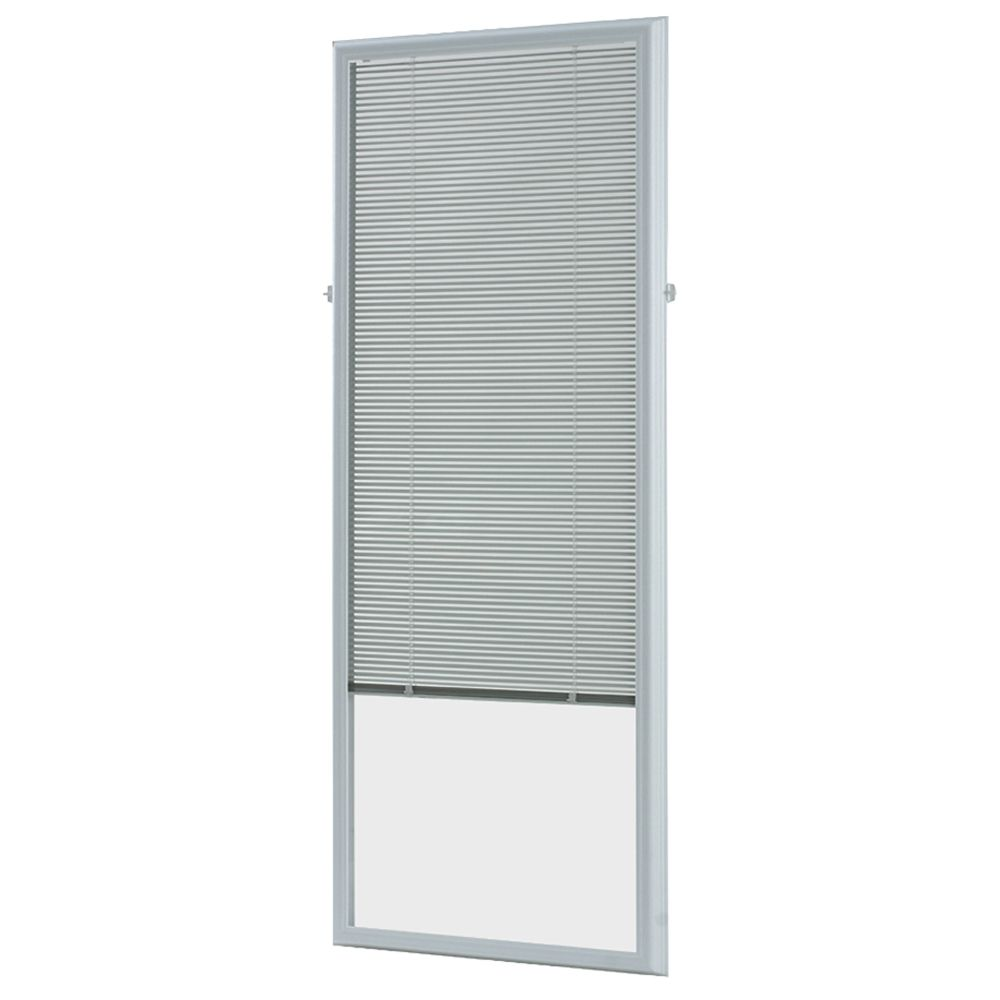 White Aluminum Add-on Blind for Full View Doors 22 Inch x 64 Inch