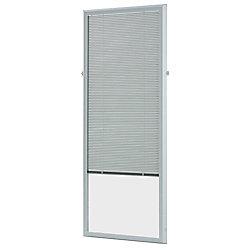 ODL Store vénitien complémentaire en aluminium blanc pour portes vitrées de 22x 64 po - ENERGY STAR®