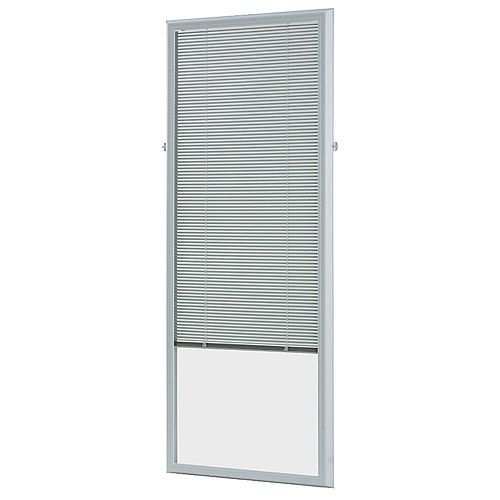 ODL 22-inch w x 64-inch h Add-On Enclosed Aluminum Blinds White Steel & Fiberglass Doors - ENERGY STAR®