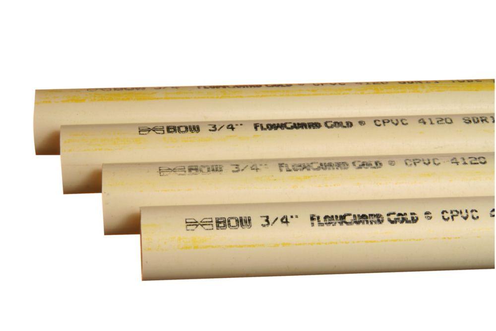 Bow Plumbing Group CPVC 3/4 Inch x 10 Feet Pipe
