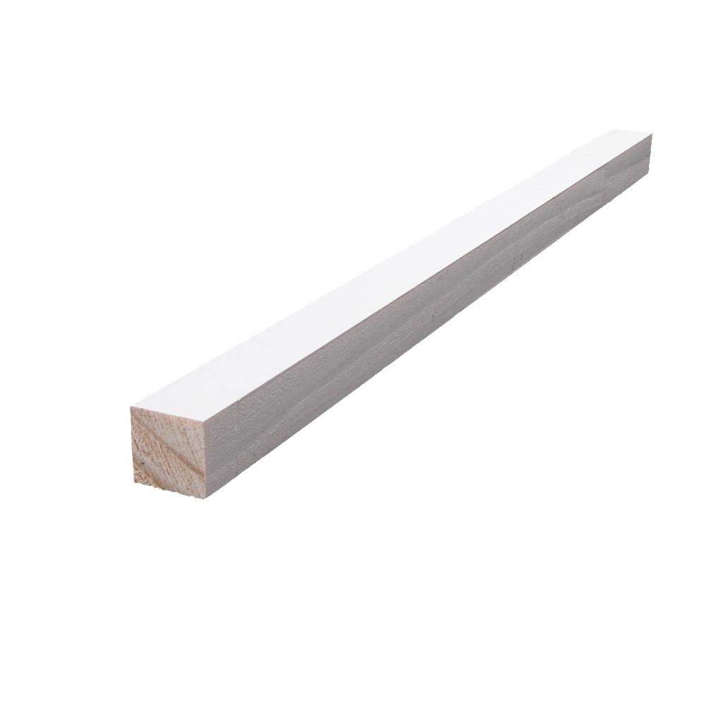 Primed Finger Jointed Pine S4S 11/16 In. x 11/16 In. (Price per linear foot)