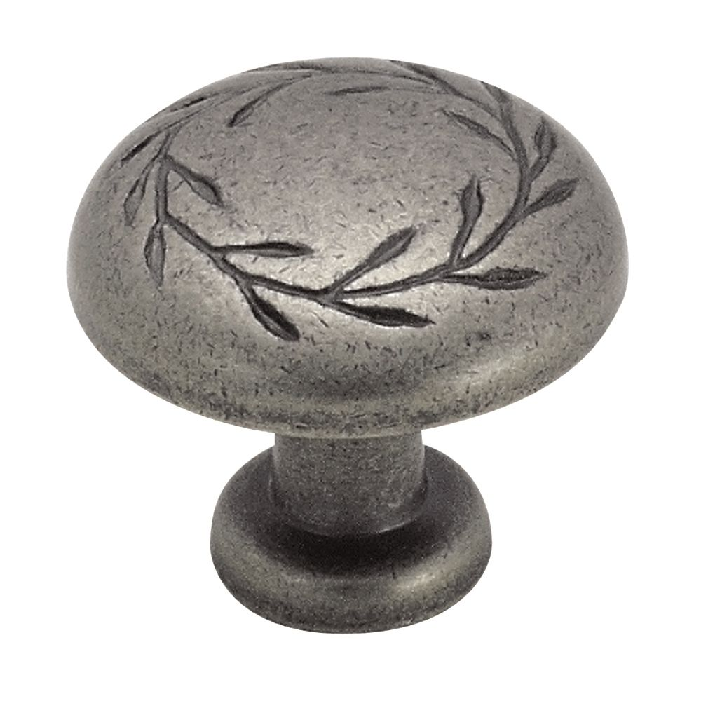 Amerock Inspirations 1-5/16 Inch (33mm) DIA Knob - Weathered Nickel