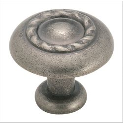 Amerock Inspirations 1-1/4-inch (32mm) DIA Knob - Weathered Nickel