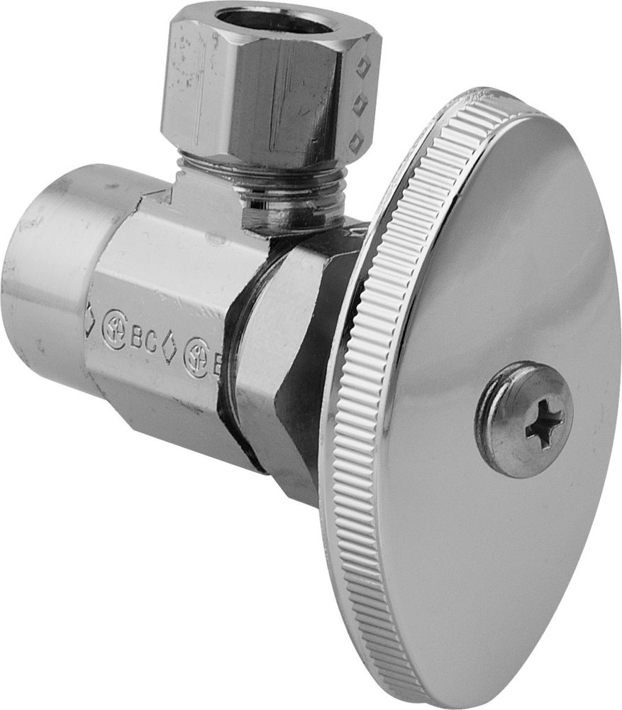 BrassCraft Angle Valve 1/2 Inch Nominal Sweat X 3/8 Inch Od Compression
