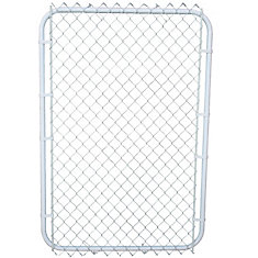 White on white gate with 2 Inch mesh 42in x 60 Inch