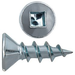 Paulin #6 x 1/2-inch Flat Head Square Drive Zinc Plated Steel Particle Board Screws - 100pcs