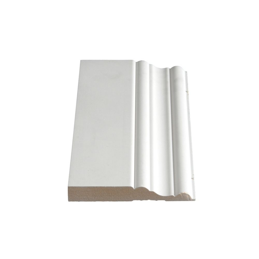 Plinthe apprêtée en MDF - 5/8 X 4 1/4 (Prix par pied)