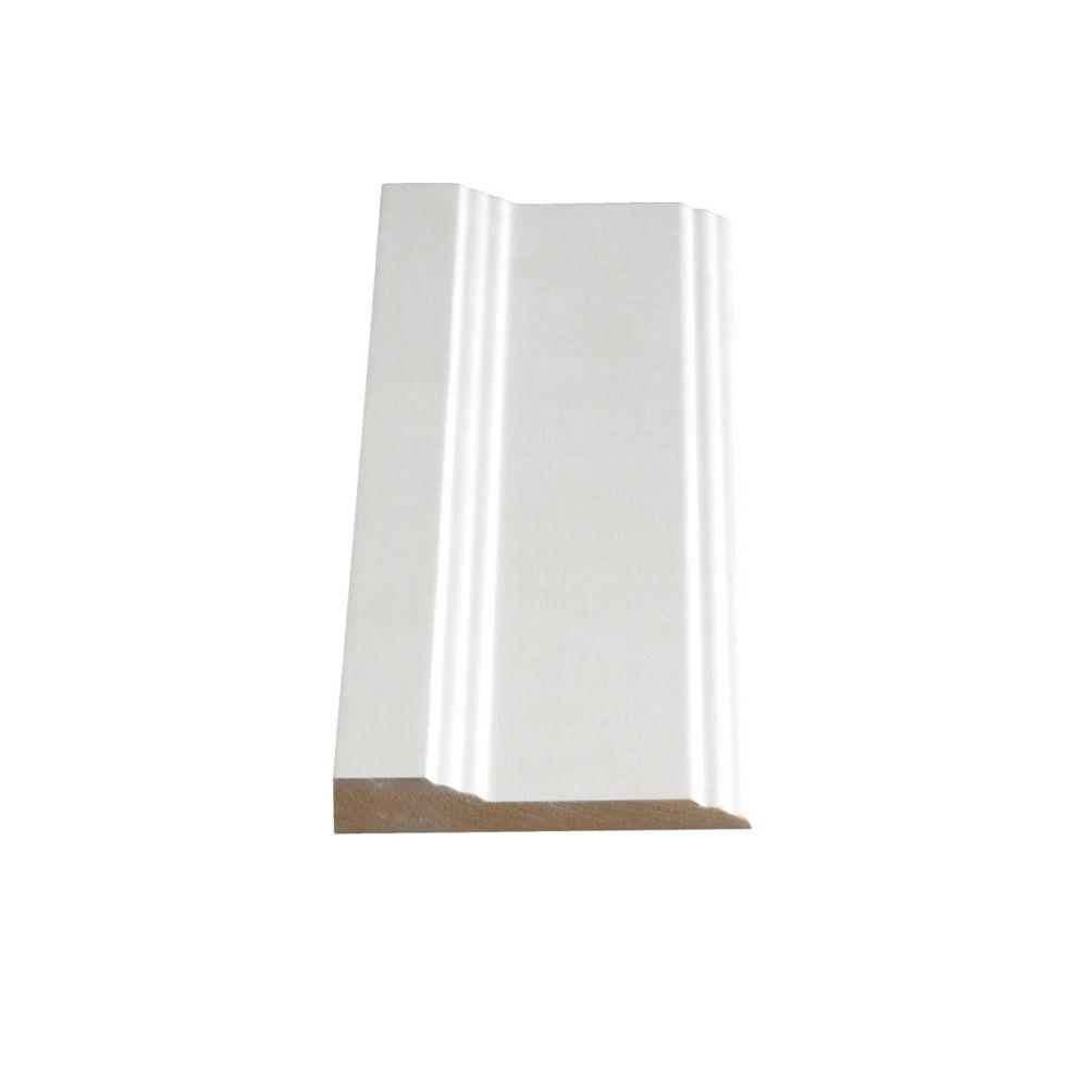 Alexandria Moulding Primed Fibreboard Base 1/2 In. x 3 In. (Price per linear foot)