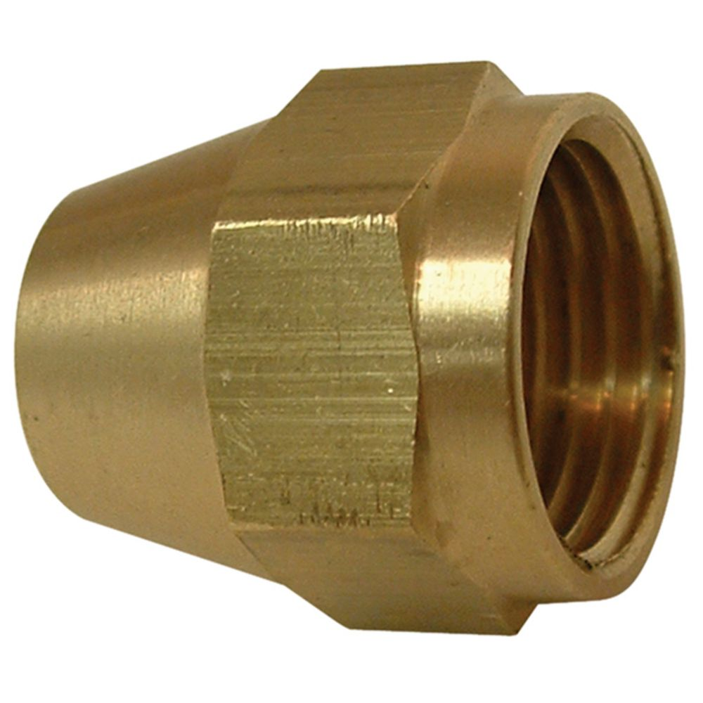 watts brass short rod nut 1 4 inches flare the home depot canada. Black Bedroom Furniture Sets. Home Design Ideas