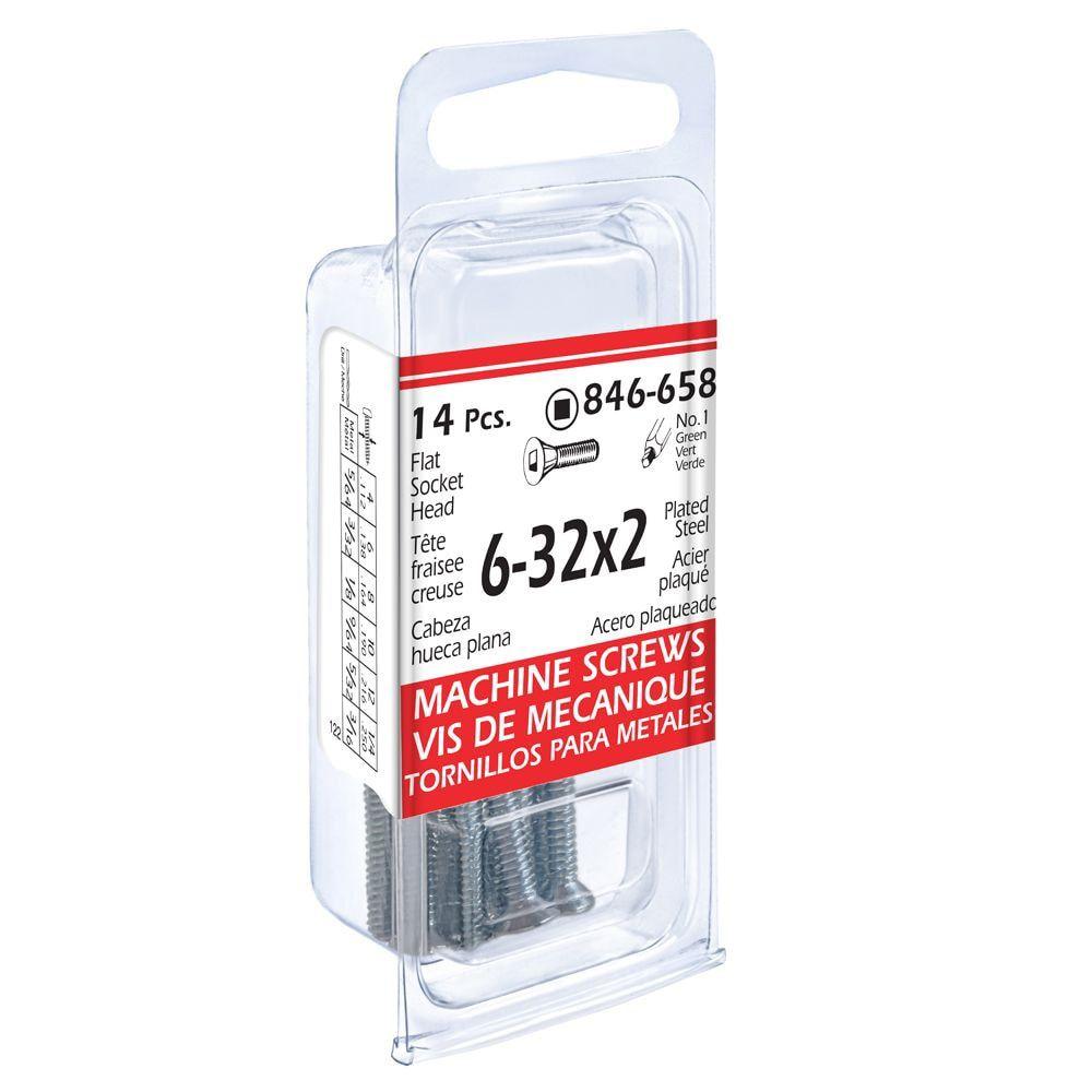 6-32x2 Flat Soc Mach 14Pc Screw