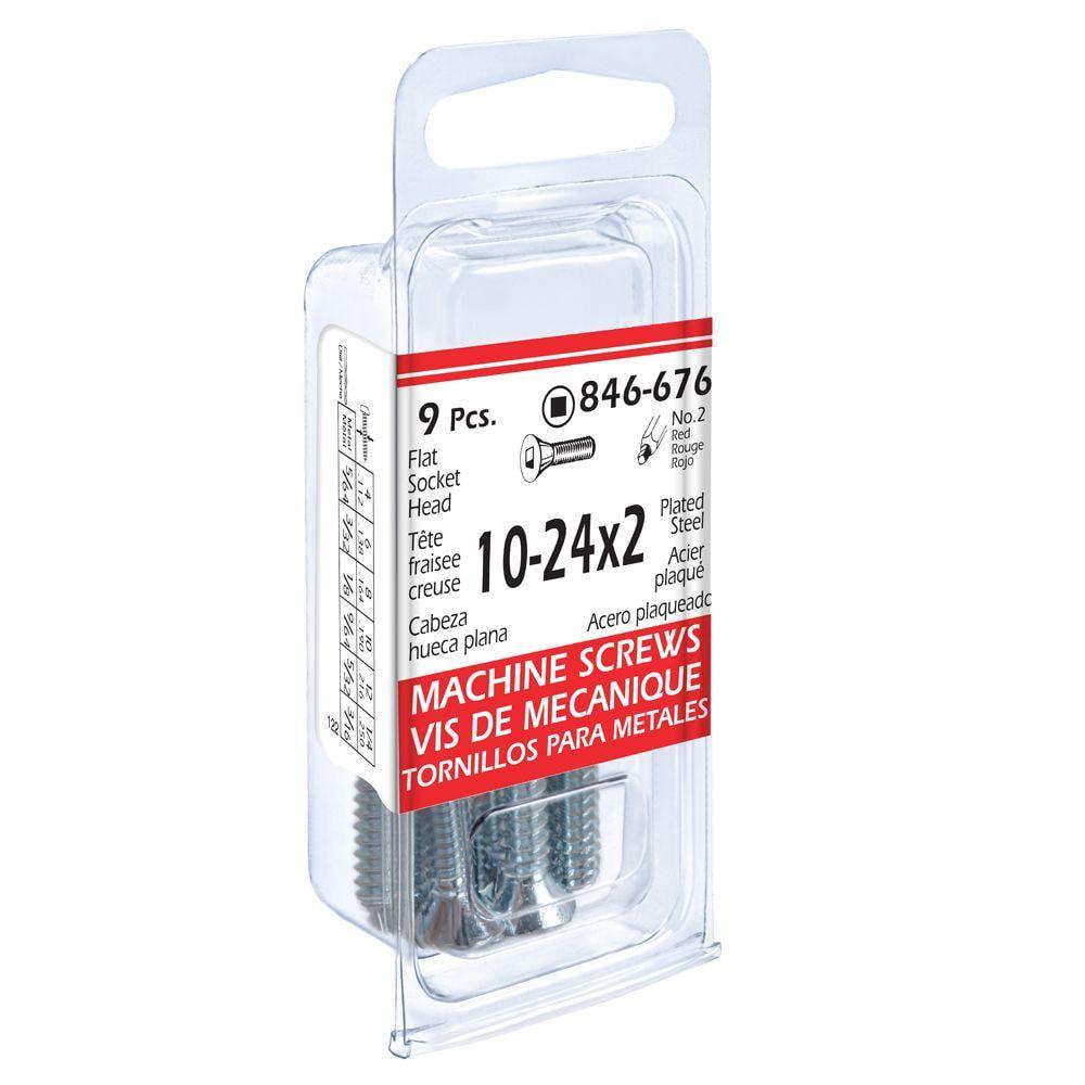 10-24x2 Flat Soc Mach 9Pc Screw