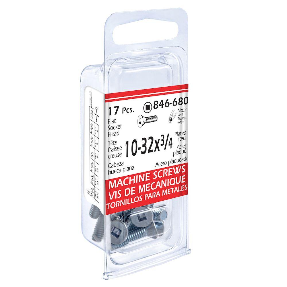 10-32x3/4 Flat Soc Mach 17Pc Screw