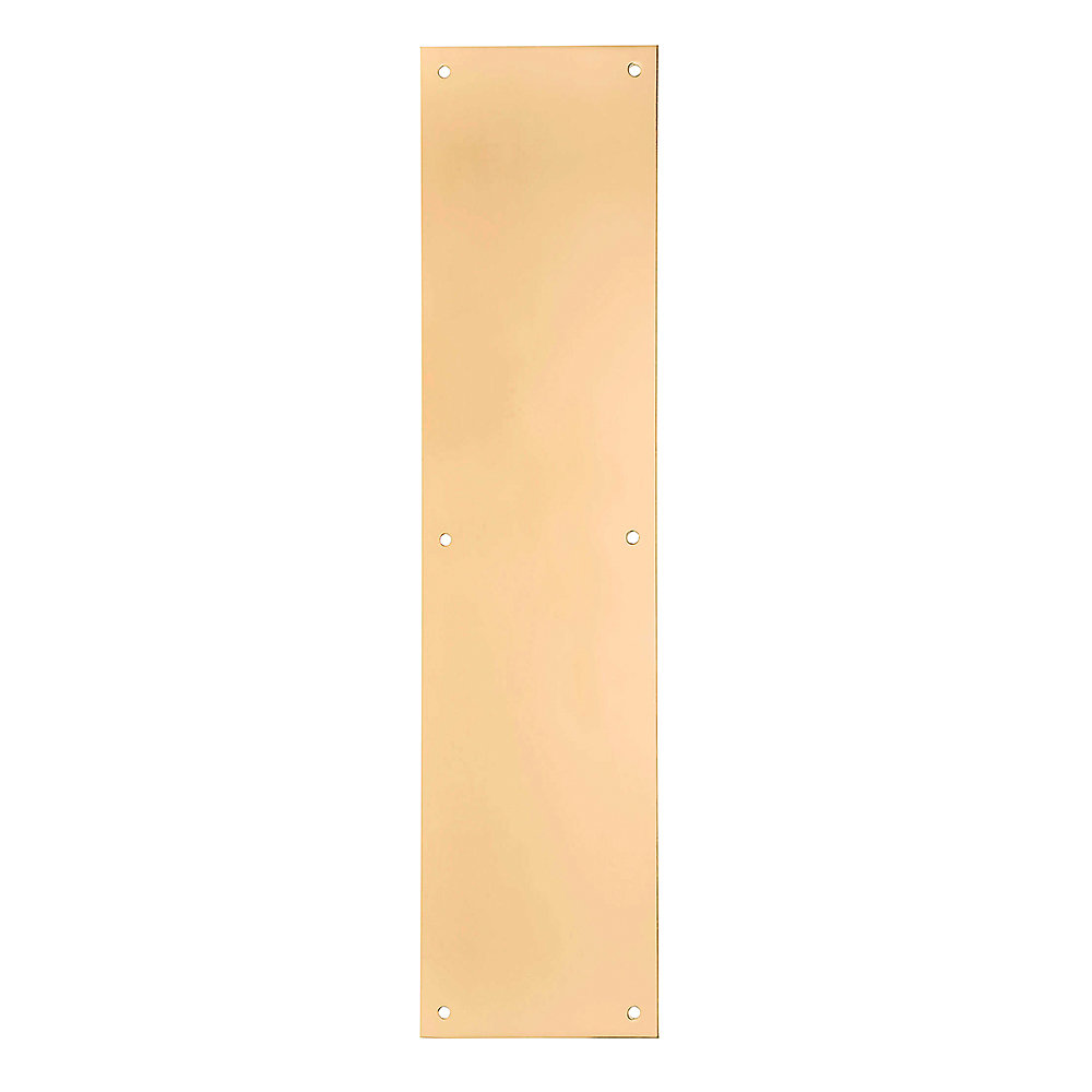 Taymor Polished Brass Push Plate, 4-inch x 16-inch | The