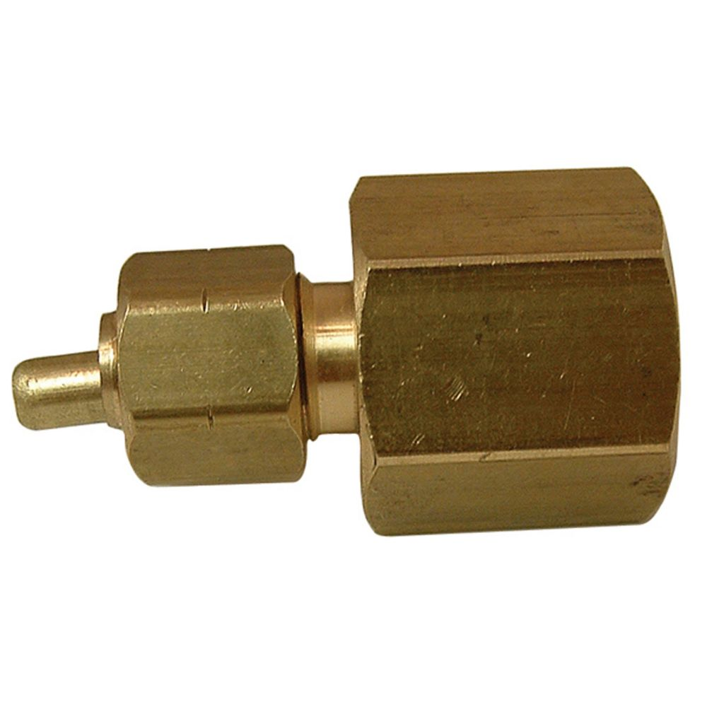 Watts tube to female pipe couplings with brass insert