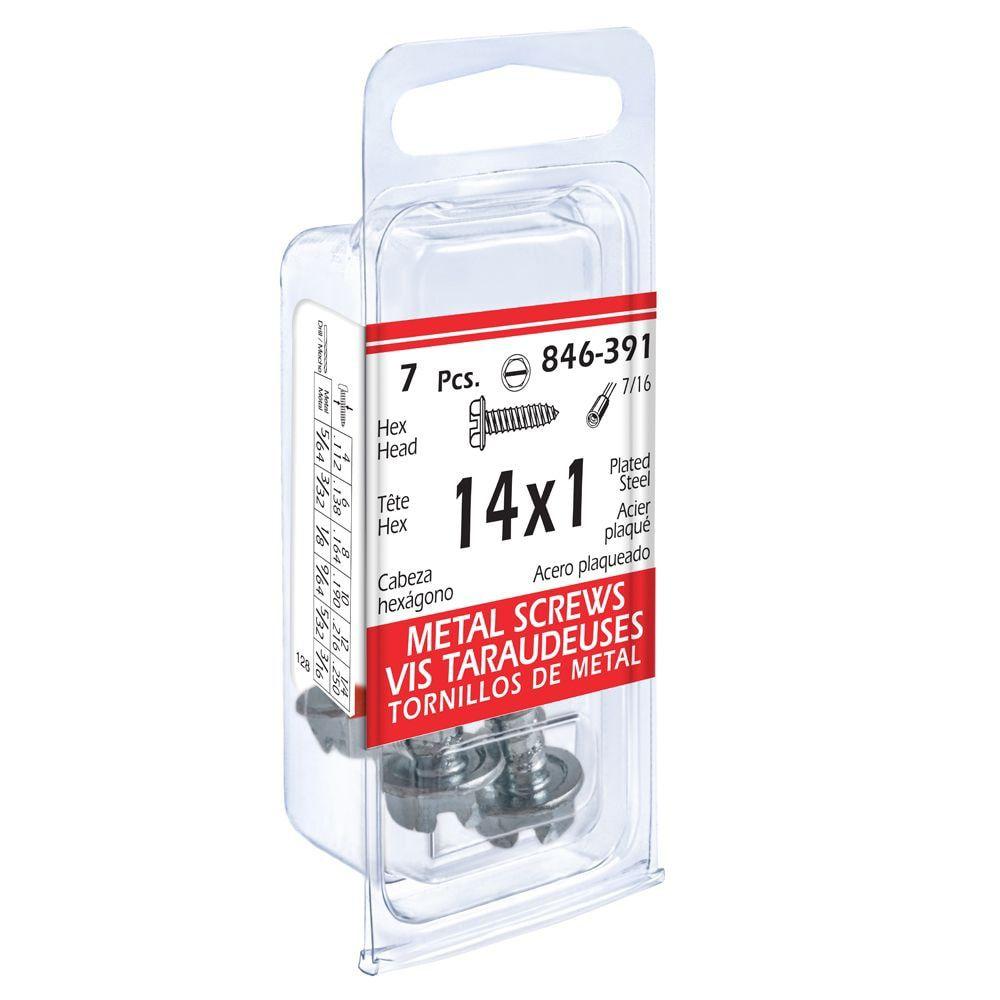 14x1 Hex Hd Metal 7Pc Screw