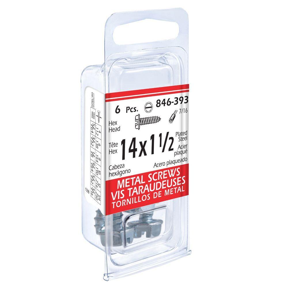 14x1-1/2 Hex Hd Metal 6Pc Screw 846-393 in Canada