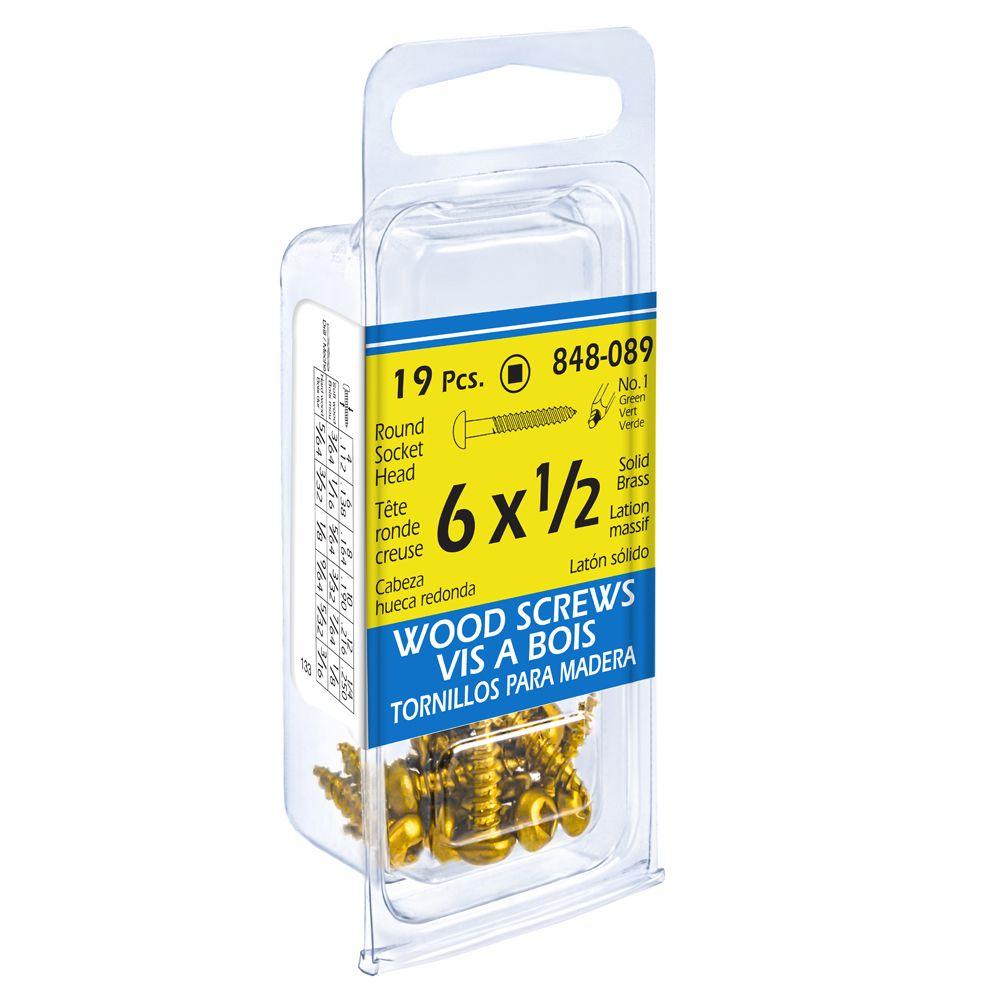 6X1/2 Rd Soc Brass Wd 19Pc Sc