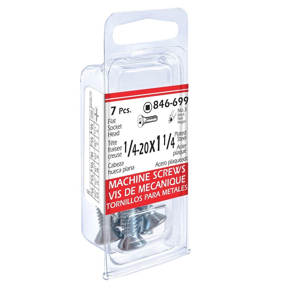 1/4x1-1/4 Flat Soc Mach Screw 7Pc