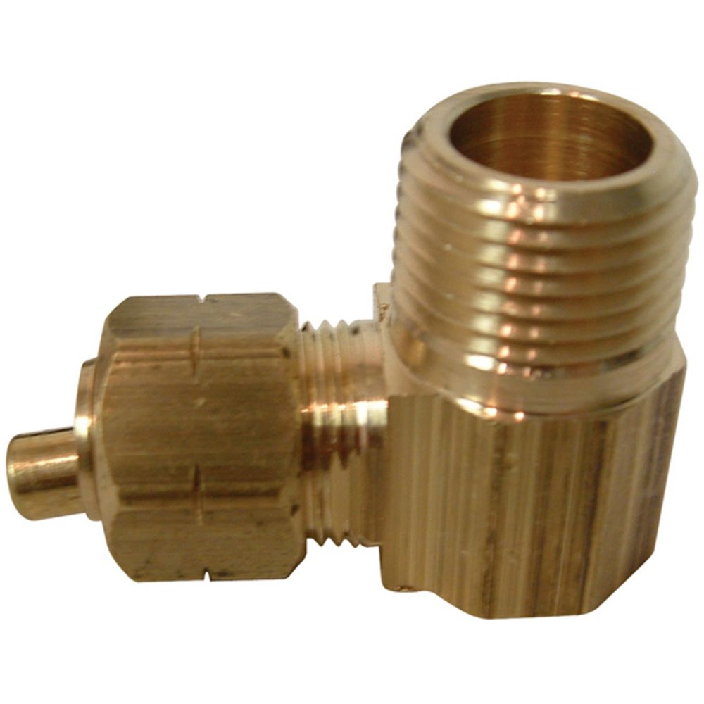 Tube to Male Pipe Elbow with Brass Insert (5/8 x 3/8)
