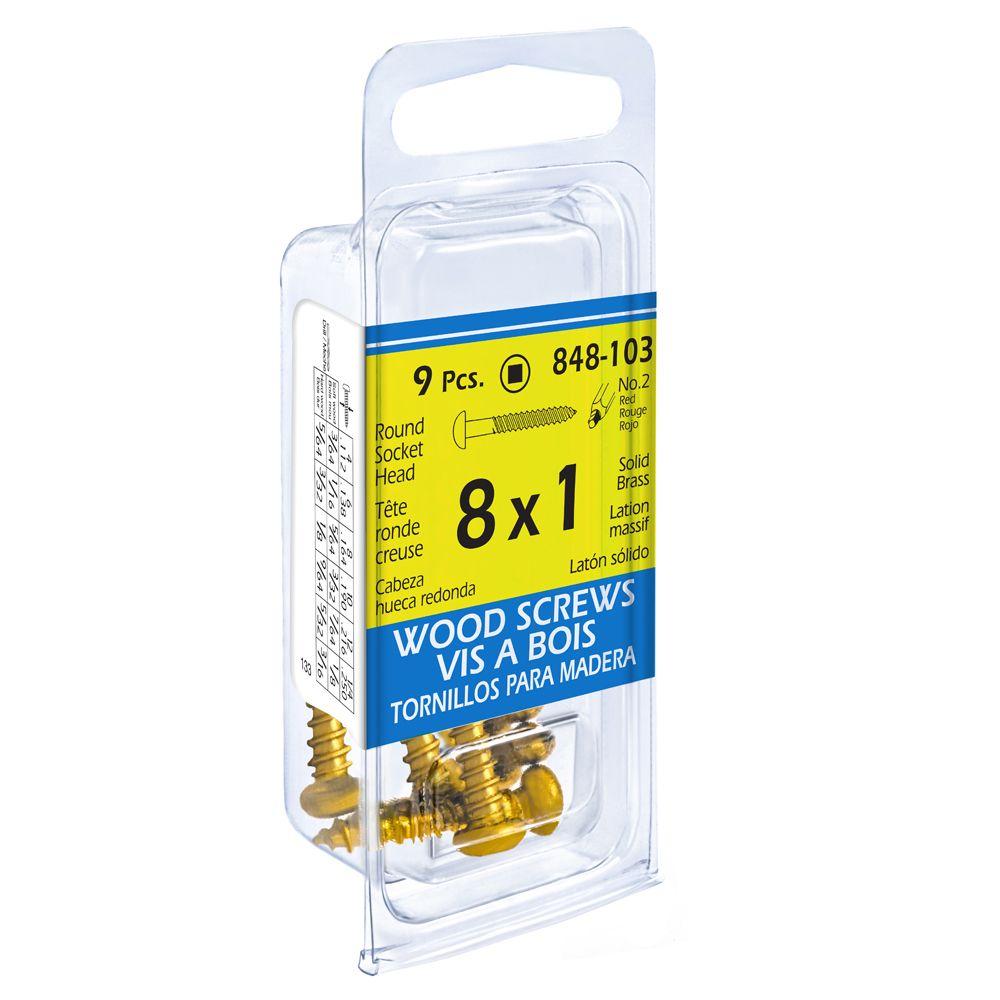 Paco 8X1 Rd Soc Brass Wd Sc 9Pcs
