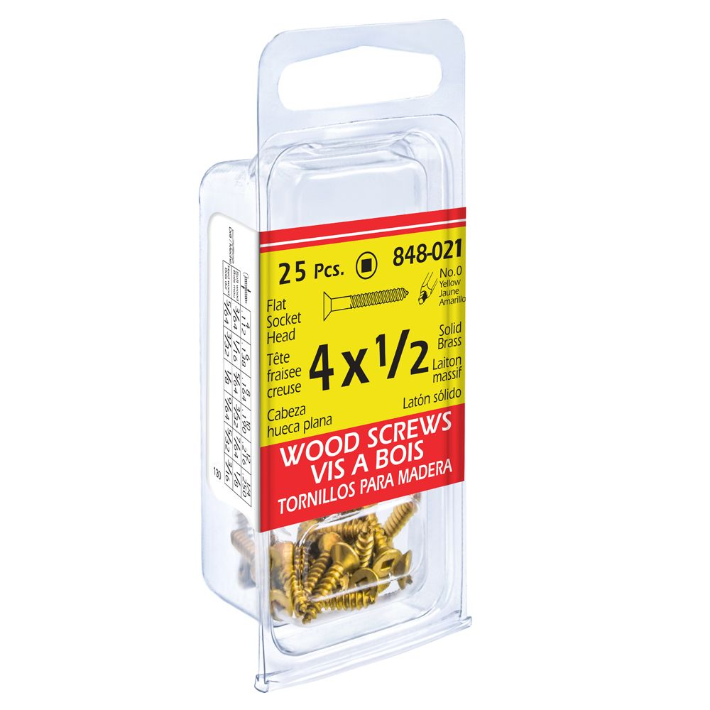 Paco 4X1/2 Flat Soc Bras Wd Sc 25Pcs