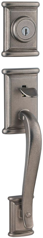 Ashfield Rustic Pewter Handle Set with Interior Lever