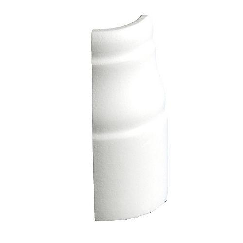 Alexandria Moulding 7/16-inch x 3 1/4-inch MDF Primed Soft Outside Baseboard Corner