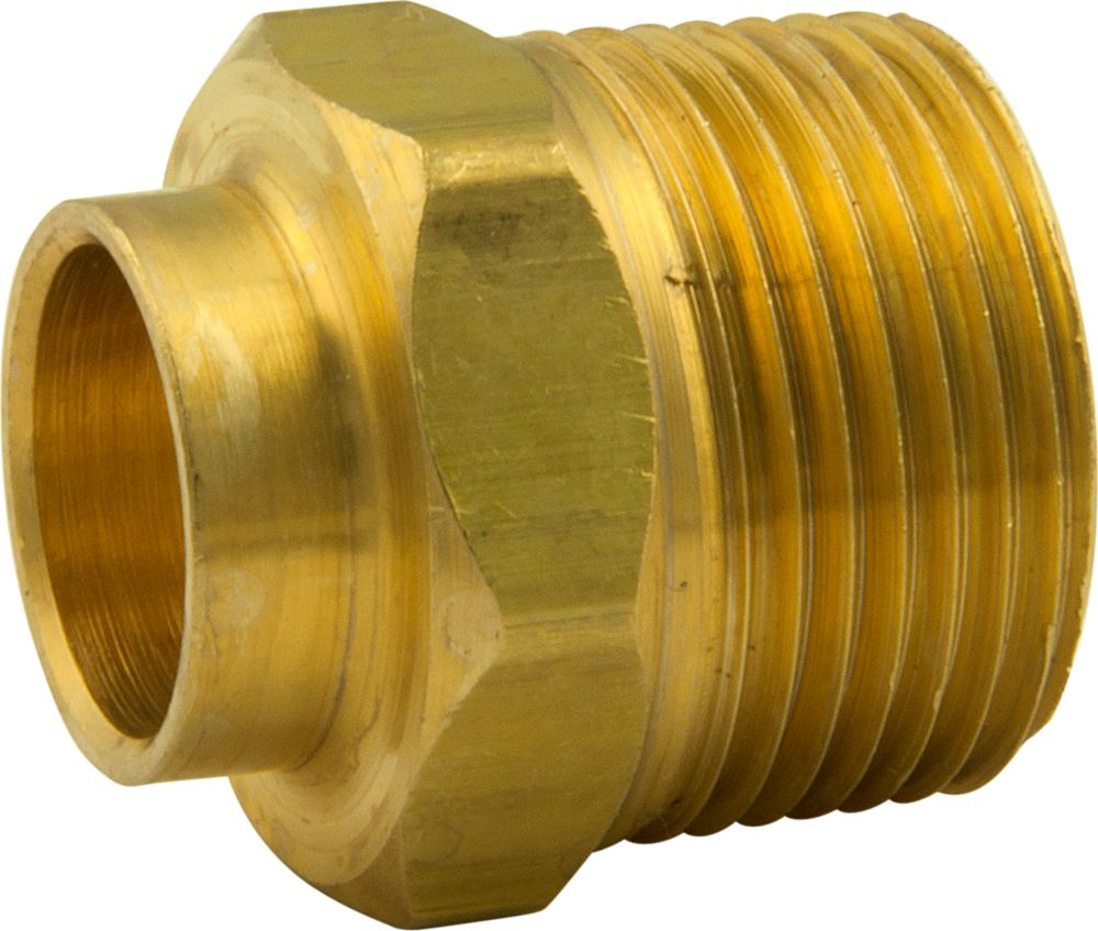 Bar Stock Adapter 1/2 Inch Nominal Sweat X 3/4 Inch Male Iron Pipe Thread 3666 F. in Canada