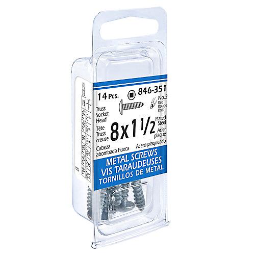 8x1-1/2 Truss Soc 14Pc Metal Screw