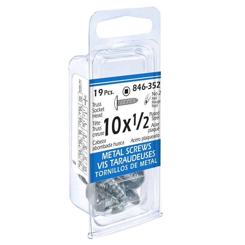 10x1/2 Truss Soc 19Pc Metal Screw