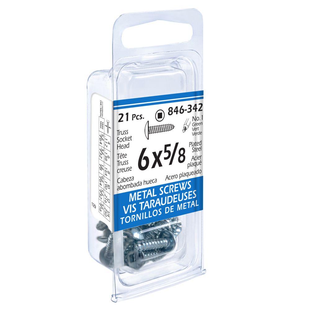 6x5/8 Truss Soc Metal 21Pc Screw