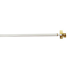48-inch to 86-inch Adjustable Closet Rod in White