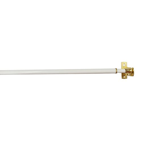 Home Decorators Collection 48-inch to 86-inch Adjustable Closet Rod in White