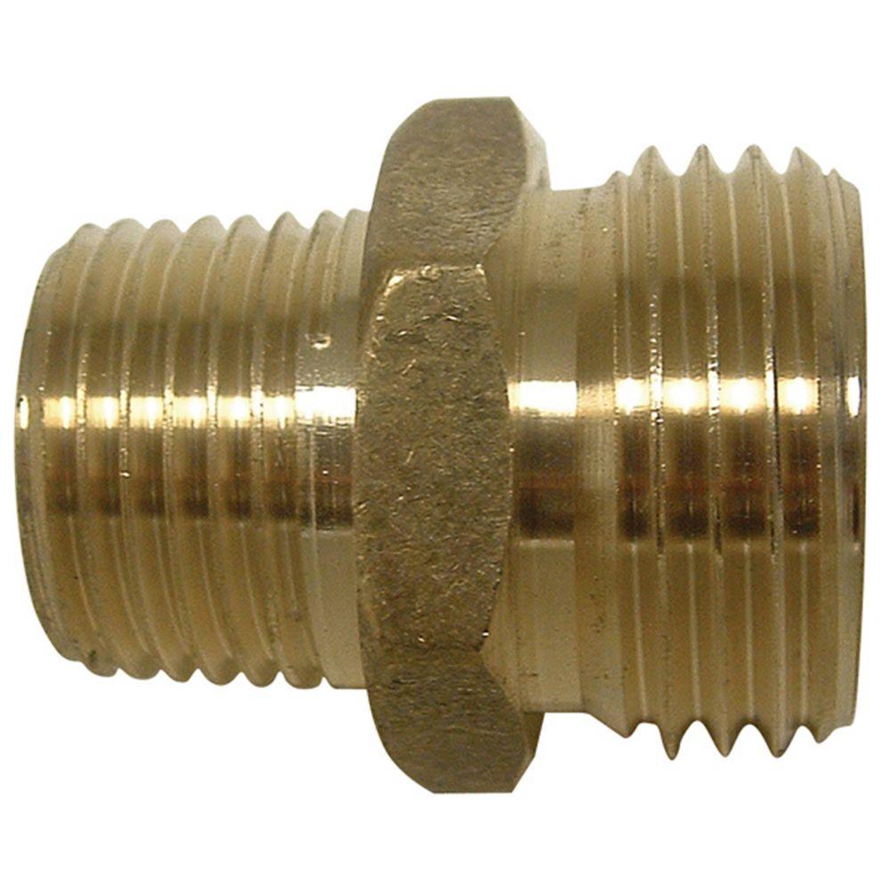 Brass Male Hose to Male Pipe Adaptor (3/4 x 3/4) A665 in Canada