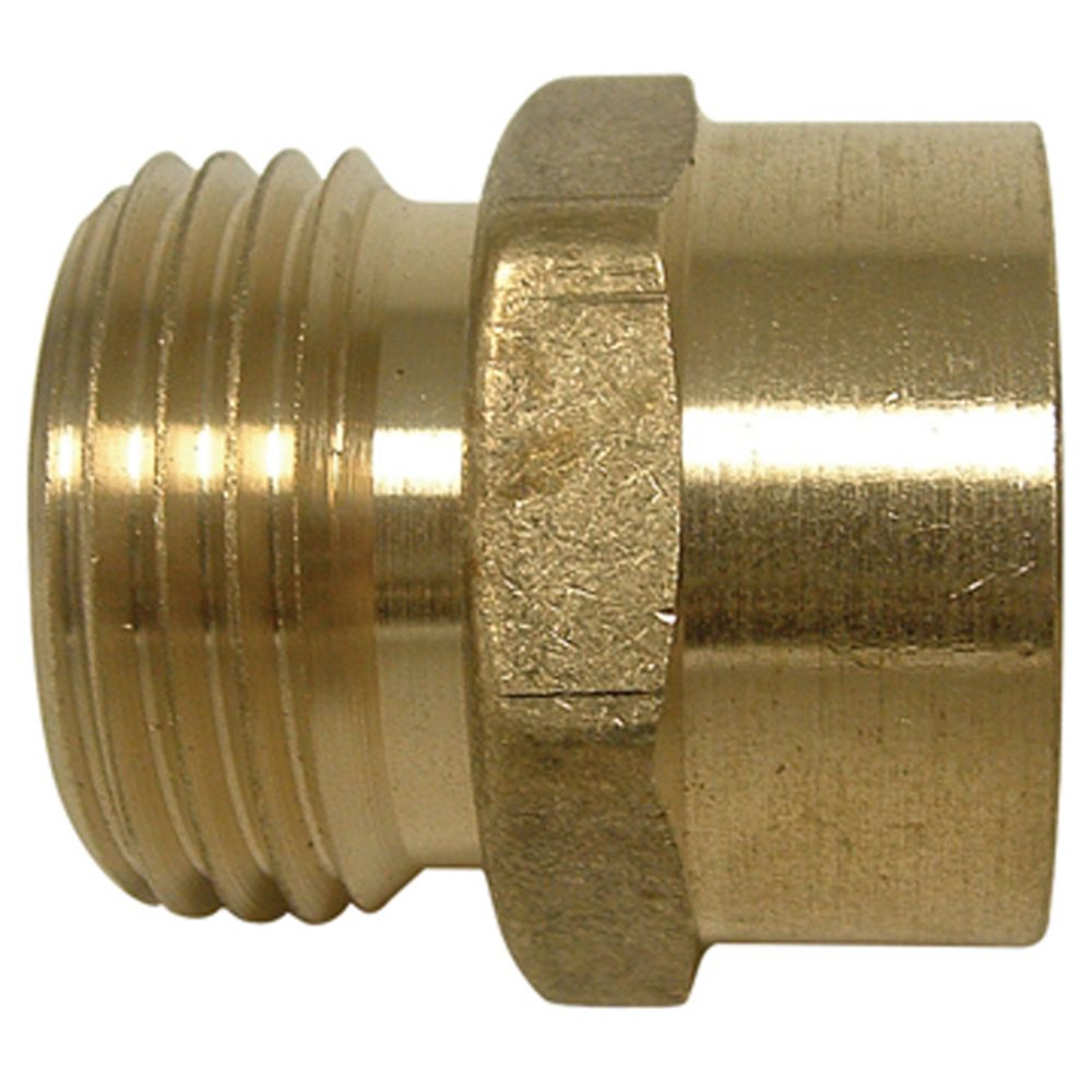 Watts brass male hose to female pipe adaptor