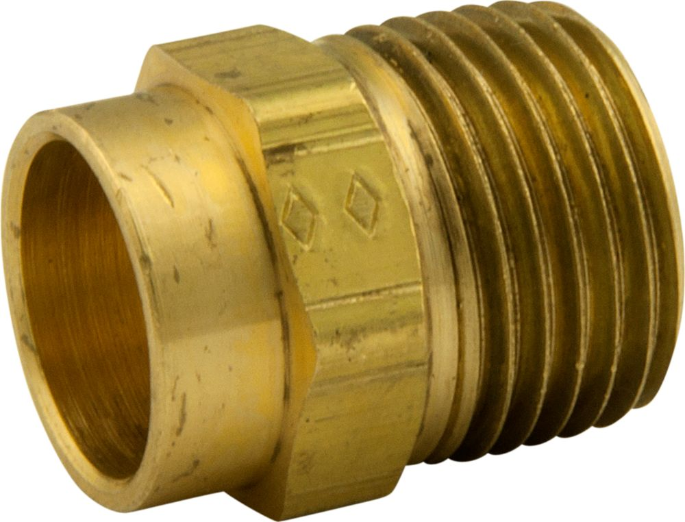 Bar Stock Adapter 1/2 Inch Nominal Sweat X 1/2 Inch Male Iron Pipe Thread