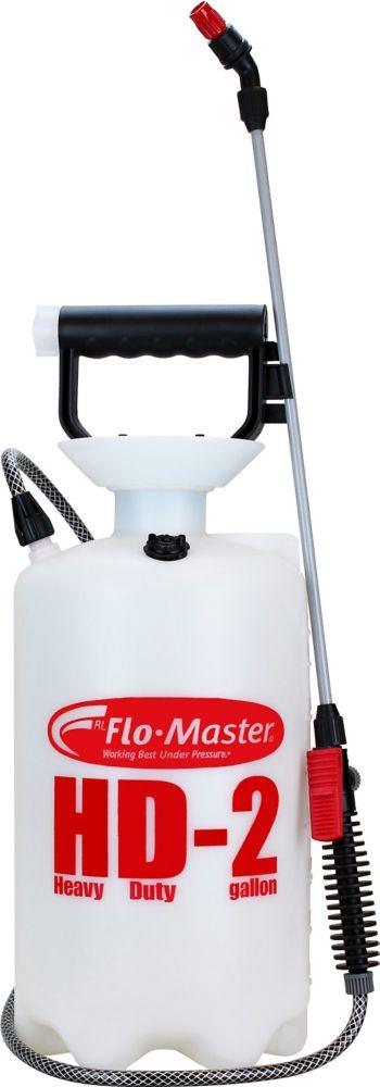 Sprayer, 2 Gallon, Translucent White Polyethylene Tank