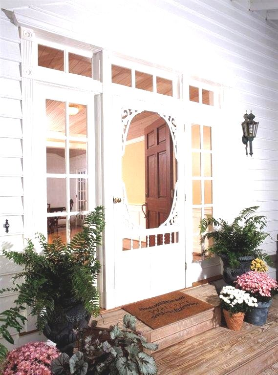 34-inch x 80-inch Georgian Solid Vinyl Screen Door