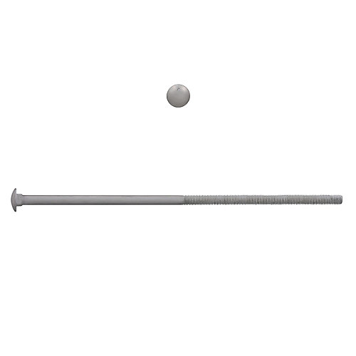 1/2-inch x 12-inch Carriage Bolt - Hot Dipped Galvanized - UNC
